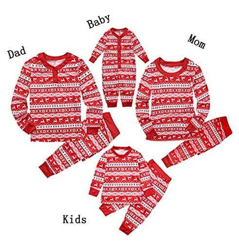 Christmas Matching Family Pajamas Set for The Family|Women Men Boys Girls and Infant Sizes,Red (Women S, Red)