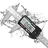 Digital Caliper –Stainless Steel Digital Caliper Electronic Vernier Caliper W/ABS Button Large LCD