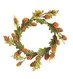 Heart of America Round Velvet Felt Wreath With Acorns Leaves - 2 Pieces