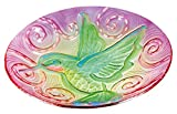 Gifted Living Hummingbird in Flight Hand Painted Birdbath and GID Feature