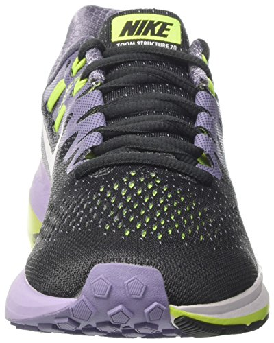 Nike Wmns Air Zoom Structure 20, Zapatos para Correr para Mujer Negro (Anthracite/white/iron Purple/volt)