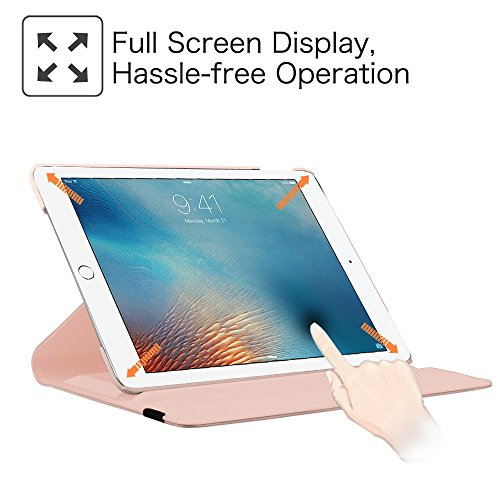 Fintie iPad Pro 9.7 Case - 360 Degree Rotating Stand Case with Smart Cover Auto Sleep / Wake Feature for Apple iPad Pro 9.7 Inch (2016 Version), Rose Gold Photo #6