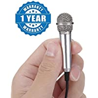 Captcha Ultra Mini Metal Jack 3.5mm Studio Lavalier Professional Handheld Microphone Compatible with Xiaomi, Lenovo, Apple, Samsung, Sony, Oppo, Gionee, Vivo Smartphones (One Year Warranty)