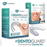 DentoGuard Mouth Guard - Teeth Grinding, Dentist-Approved Teeth Protectors, Offers Relief From Bruxism, TMJ & Teeth Clenching. Promotes Jaw Joint Relaxation, Custom Fit BPA-Free – 4 Pack