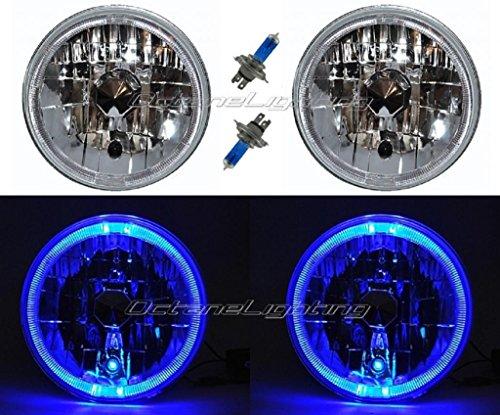 OCTANE LIGHTING 55 56 57 Chevy Halogen Blue Led Halo Headlight Headlamp H4 Light Bulbs 7