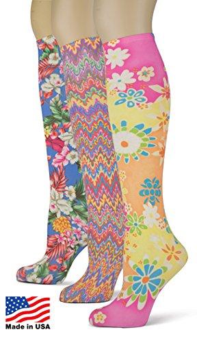 Knee Socks Colorful Printed Patterns