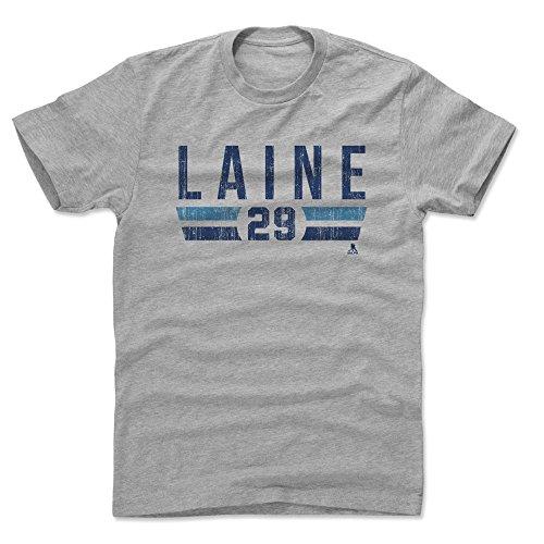 - 500 LEVEL Patrik Laine Cotton Shirt (X-Large, Heather Gray) - Winnipeg Jets Men's Apparel - Patrik Laine Font B