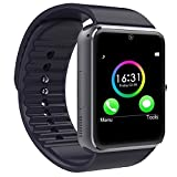 Wingtech Bluetooth Smartwatch 1.54 Inch Touch Screen Smart Wrist Watch Supports SIM Card Slot / TF Card with Pedometer Camera Sleep Monitor for Android Samsung Huawei LG Smartphones (Black)