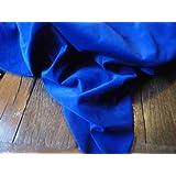 Tessuto in velluto di cotone, vendita al metro, colore blu reale