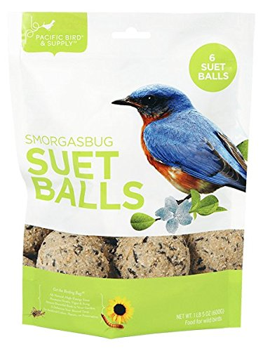 Pacific Bird & Supply Co Inc PB-0098 1 Lb 5 Oz Smorgasbug Suet Ball 6 Pack by Pacific Bird and Supply Co