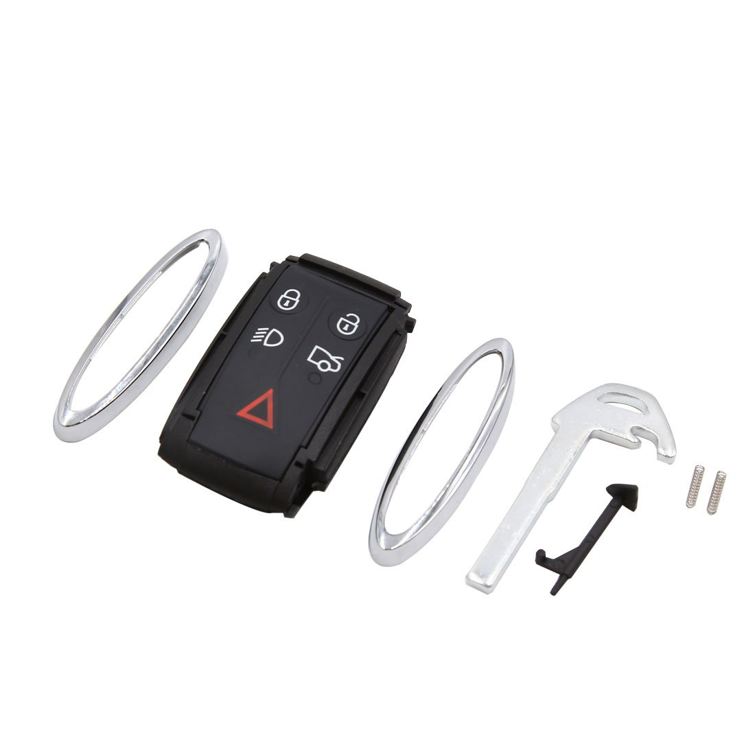 uxcell 5 Button Remote Control Key Case Shell Protective Cover with Key for Jaguar