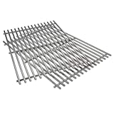 QuliMetal #304 Products 7639 2pk Stainless Steel Cooking Grate (17.3 x 11.8 x 0.5) Replacement for Weber Spirit 300 Series Spirit 700 Genesis Silver B c Genesis Gold B C Genesis Platinum B C