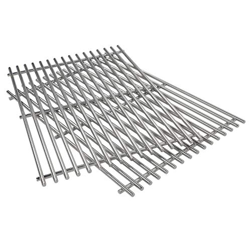 QuliMetal 7639, 304 Stainless Steel Cooking Grates (17.3 x 11.8 x 0.5) for Weber Spirit 300 Series, Spirit 700, Genesis Silver B & C, Genesis Gold B & C, Genesis Platinum B & C (Stainless Steel Grates Vs Porcelain Cast Iron)