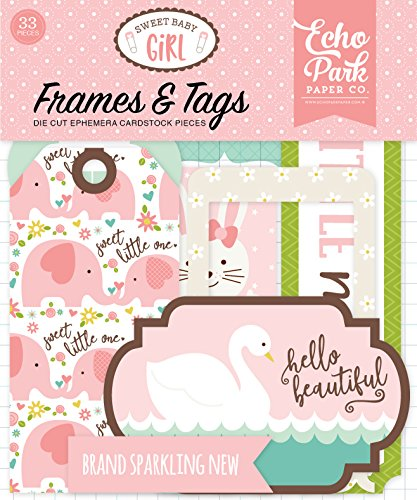 Company Girl Baby - Echo Park Paper Company Sweet Baby Girl Frames & Tags