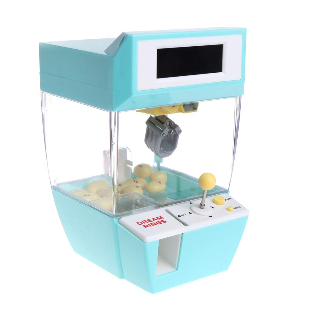 Autone Mini Doll Machine Grab Ball Candy Catcher Gum Crane Kids Party Toys Role Play Tool Kit with Alarm Clock