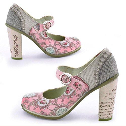 Hot Heels Shoes (Hot Chocolate Design Chocolaticas High Heels Marie Antoinette Women's Mary Jane Pump Multicoloured HCD 38)
