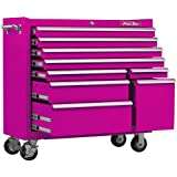 The Original Pink Box PB4109R 41-Inch 9-Drawer 18G Steel Rolling Tool Cabinet, Pink