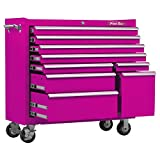 The Original Pink Box PB4109R 41-Inch 18G Steel Rolling Tool Cabinet, 9-Drawer (Pink)