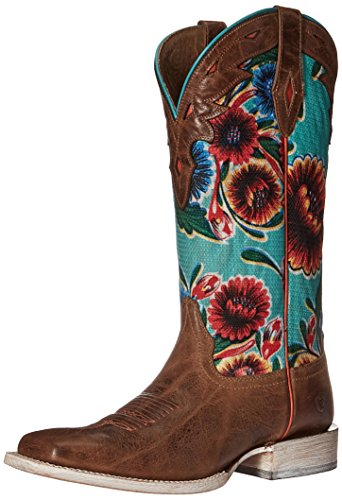 Ariat Women's Circuit Champion Western Cowboy Boot, Bitter The Dust Brown, 8 B US by Ariat