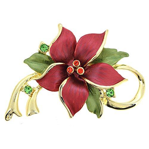 tmas Star Flower Swarovski Crystal Pin Brooch and Pendant (Swarovski Crystal Star Brooch)