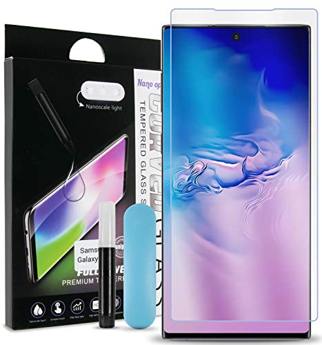CoverON Nano Liquid Adhesive + UV Light Nanoscale Tempered Glass Screen Protector for Samsung Galaxy Note 10 Plus/Note 10 Plus 5G (2019)