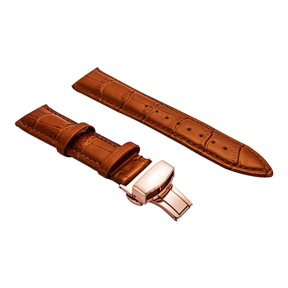 Fashion Leather Watch Band Brown Watch Strap Bracelet 21mm Brown