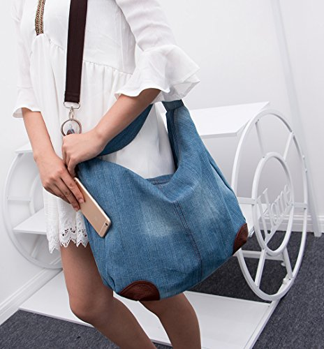 Handbag Bags Handle Light Crossbody Tote Purse Dreams Blue Mall Top Denim Shoulder TM Women's Hobo PT8FtxSqw