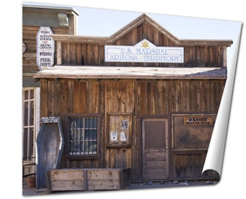 Ashley Giclee Fine Art Print, Old Marshalls Office In Tucson, 16x20, - Tucson Indian Store