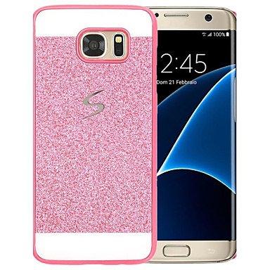 Casos hermosos, cubiertas, Para Diseños Funda Cubierta Trasera Funda Brillante Dura Policarbonato Samsung S6 edge plus / S6 edge / S6 / S5 / S4 / S3 ( Color : Oro , MN-Samsung-CM-Personalized : Galaxy Rosa