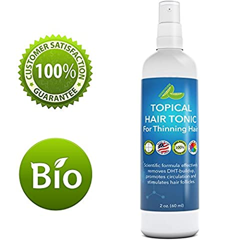 Hair Loss Treatment for Thinning Hair - Volume & Hair Growth Thickening Spray. All Natural Anti-Aging Hair Regrowth Formula with & DHT Blocker Saw Palmetto - Argan Oil Coconut + Green Tea Antioxidant