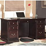 kathy ireland Home by Martin Fulton Space Saver Double Pedestal Desk - Fully Assembled
