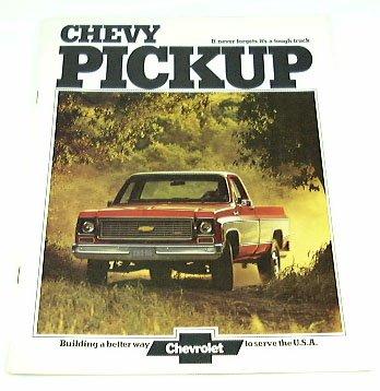 - 1974 74 Chevrolet CHEVY PICKUP TRUCK BROCHURE C10 K20