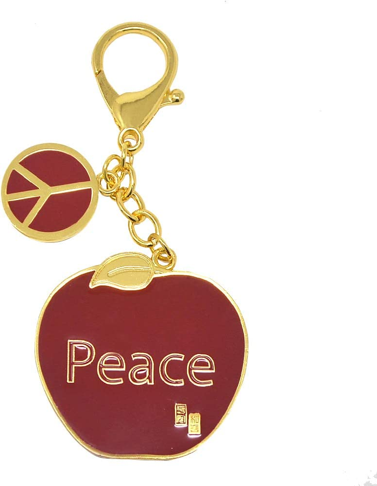 fengshuisale Red Apple- Love and Peace Hanging Key Chain W4243