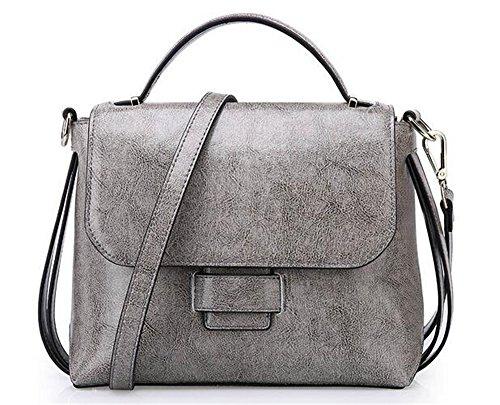 et Portable épaule sauvages petit Le cuir paquet l'été gray printemps carré couleur solide en Sac Messenger R5q1a5w