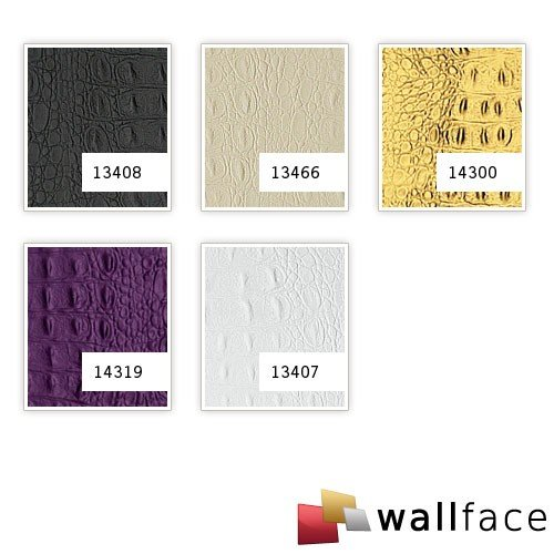 WallFace 14300 CROCO Wall panel leather 3D interior decor luxury wallcovering decoration self-adhesive gold | 2,60 sqm by Wallface (Image #3)