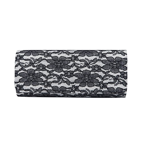 Elegant Floral Fabric Clutch Evening product image