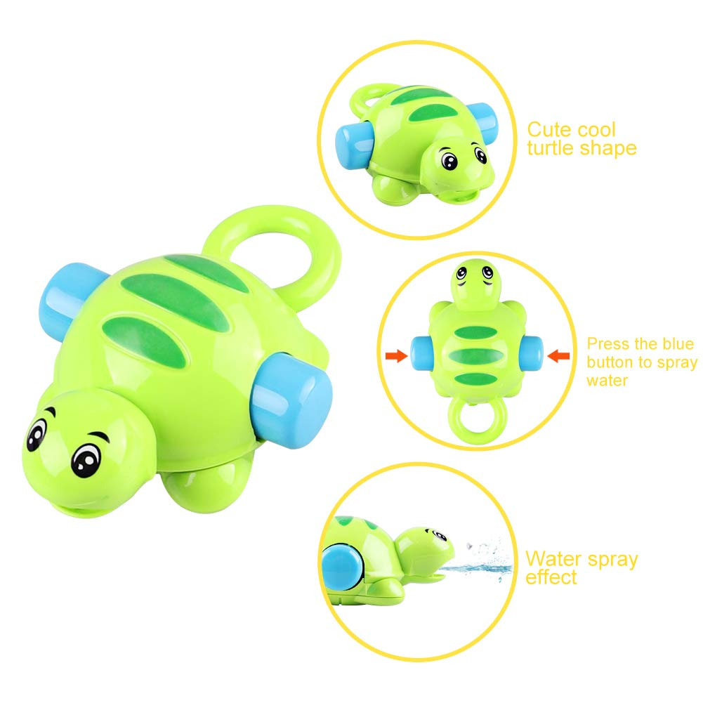 Floating Tortoise) DX DA XIN Cool Squirt Bath Toys for Toddlers Babies Boys Girls Kids Bathtub Toys Baby Kids Fishing Toys,Squirt Bathtub Toys Pool Water Table Toy Gift for 1-3 Year Fishing Bath Toys