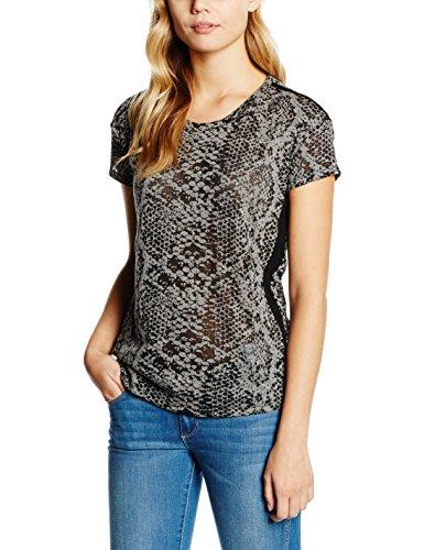 Cortefiel Cforwardslashta Devore Serpiente, Camiseta para Mujer greys