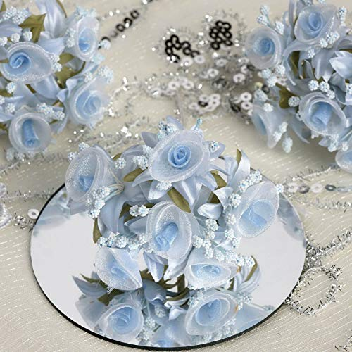 Mikash 72 pcs Mini Shimmering Organza Craft Roses Wedding DIY Favors Bulk Decorations | Model WDDNGDCRTN - 8470 | - Ucla Bruins Tent