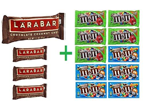 Larabar Chocolate Coconut Chew Fruit and Nut Food Bar 1.8 OZ (Pack of 4) + 10 pack M&M chocolate 1.69oz (Larabar Bars Chocolate Coconut Chew)
