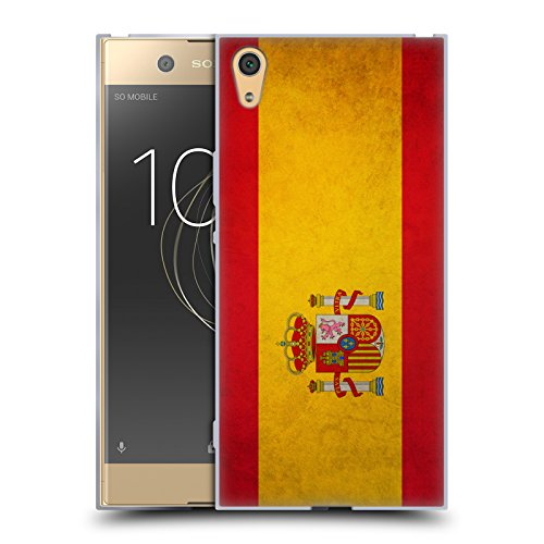 Spanish Case (Head Case Designs Spain Spanish Vintage Flags Soft Gel Case for Sony Xperia XA1 Ultra / Dual)