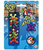 Set 10 Jacks & Ball Fun Toy Traditional Classic Game Party Bag Gift New Carded