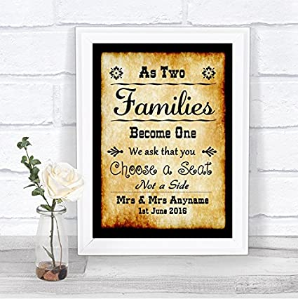 Cartel de boda personalizado The Card Zoo Western Vintage ...