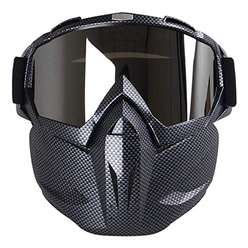 Plenmor Motorcycle Goggles with Detachable Mask, Anti-Fog Windproof