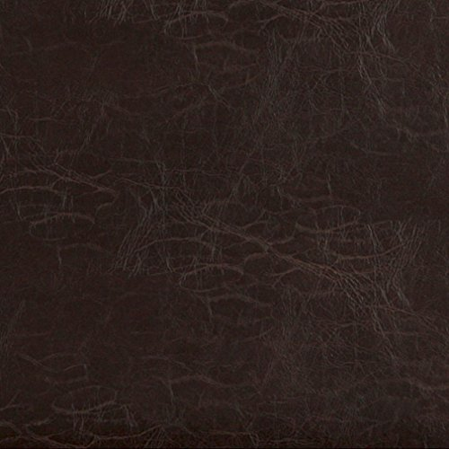- Cocoa Brown Distressed Leather Hide Look Soft Vinyl Upholstery Fabric by the yard