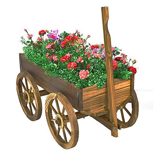bs-wooden-wagon-cart-garden-flower-planter-outdoor-decor-cart-yard-wheel-barrel-pot-stand-antique-look-sturdy-and-durable-ebook-by-bada-shop