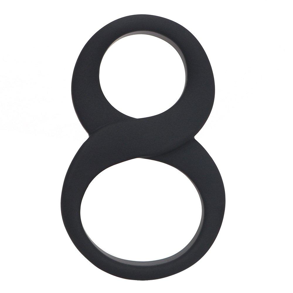 bingx Grande Doppio Anello in Silicone a Forma di 8