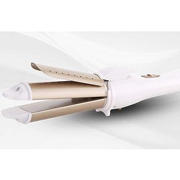 Rizador de pelo y alisador de pelo, cepillo eléctrico caliente 2 en 1 cerámica plancha pelo recto rizador doble uso pelo recto peine eléctrico: Amazon.es: ...