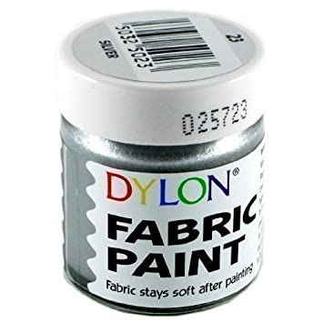 dylon fabric paint metallic silver 25ml amazon co uk toys games