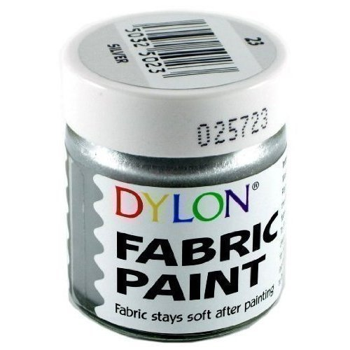 DYLON Fabric Paint Metallic Silver 25ml